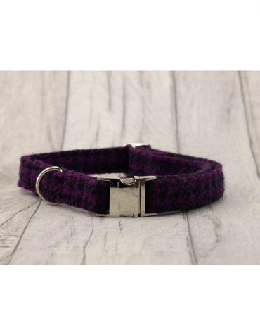 Purple Harris Tweed Collar