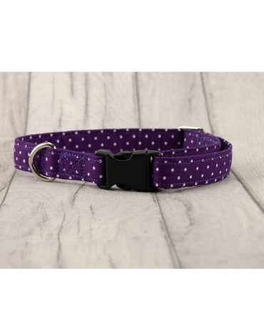 Purple cotton collar