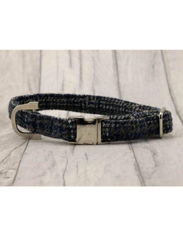 blue harris tweed collar
