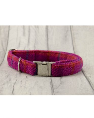 pink harris tweed collar