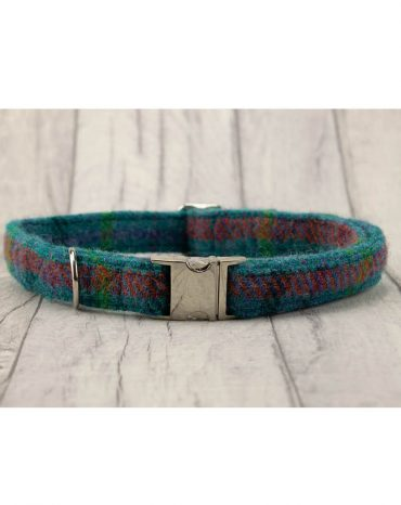 teal harris tweed collar