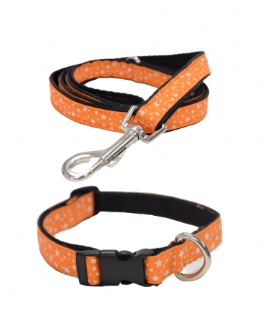 Orange Stars collar and lead etsy