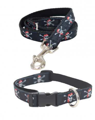 Pirates life collar and lead etsy