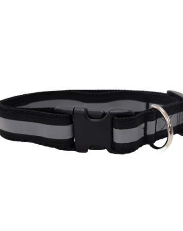 Reflective black collar