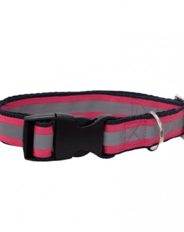 Reflective pink collar