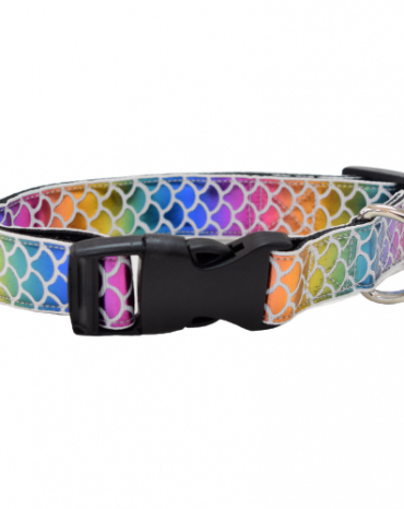 Sparkly rainbow mermaid collar