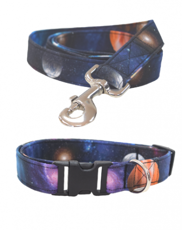 space fabric collar and lead