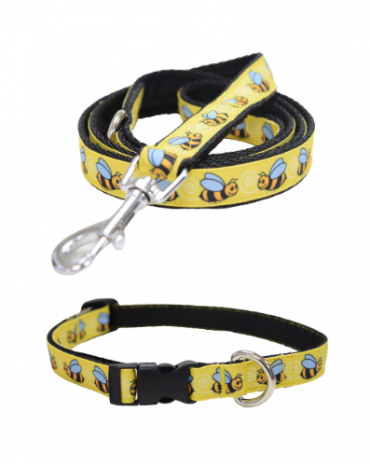 Busy Bees collar and lead
