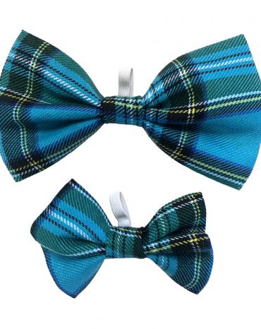 Blue Tartan Bow Ties