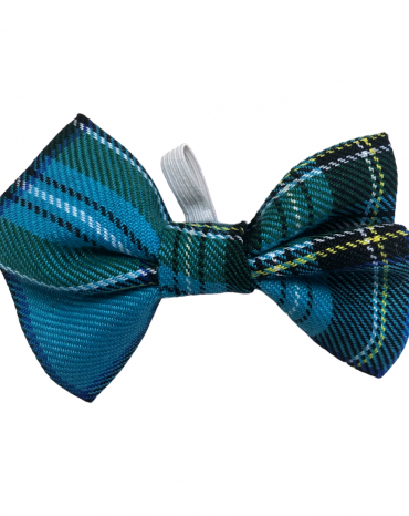 Blue Tartan Bow Ties – small