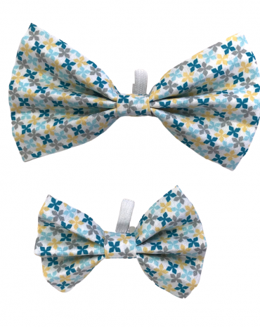 Blue geo shapes Bow Ties