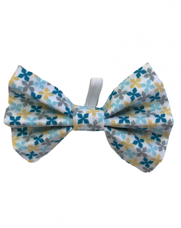 Blue geo shapes Bow Ties – small