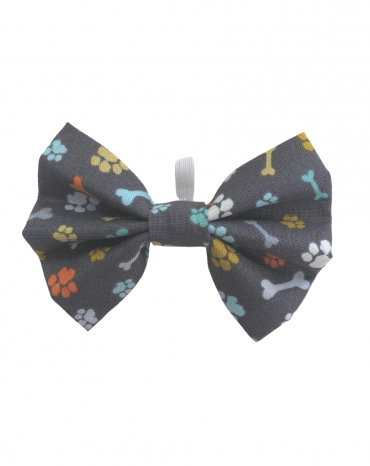 Grey paws bones Bow Tie – small