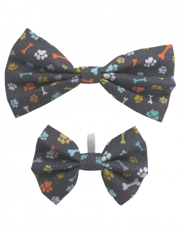 Grey paws bones Bow Ties