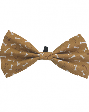 Mustard Bones Bow Ties – large