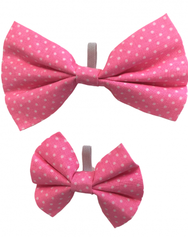 Pink spots Bow Ties