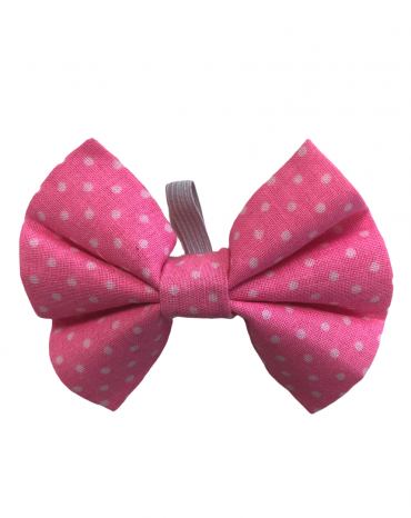 Pink spots Bow Ties – small