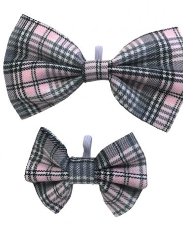 Pink tartan Bow Ties