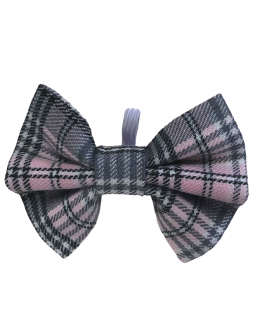 Pink tartan Bow Ties – small