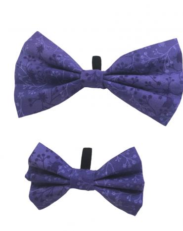 Purple flowers Bow Ties