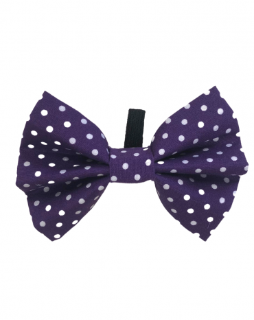 Purple spots Bow Ties – small