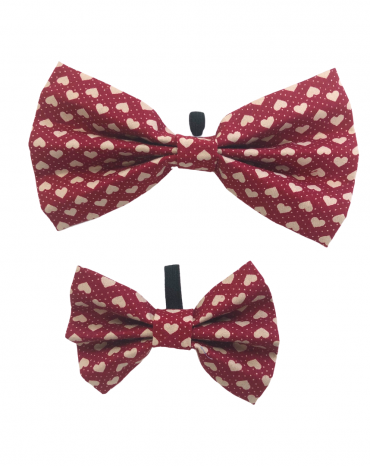 Red Hearts Bow Ties