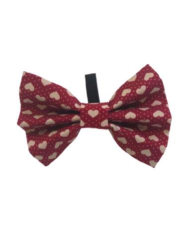 Red Hearts Bow Ties – small