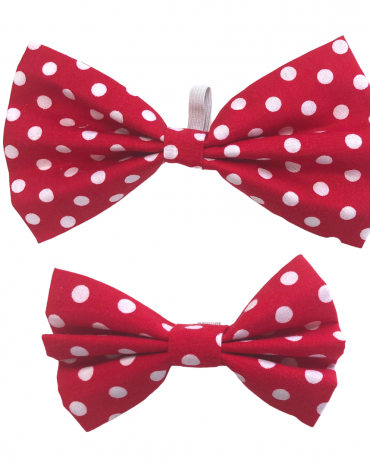 Red spots Bow Ties