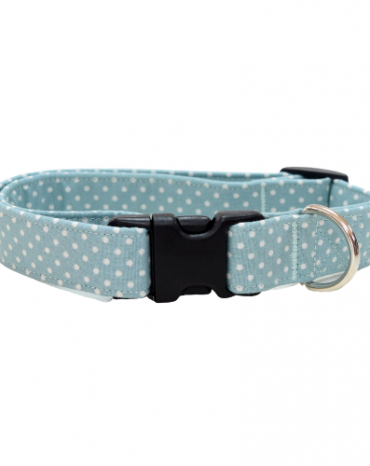 green dots fabric collar