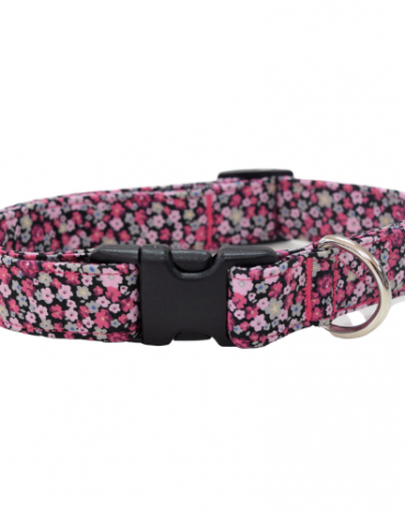 pink flower fabric collar