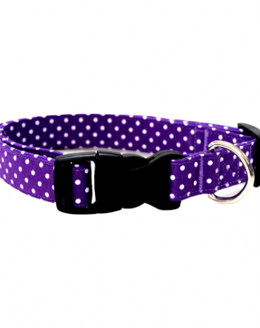 purple spots fabric collar