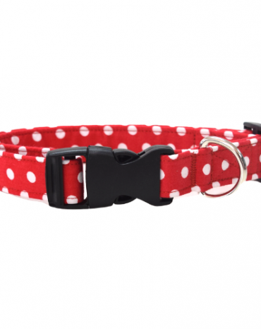 red spots fabric collar