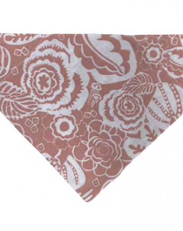 Large flowers on pink background bandana copy