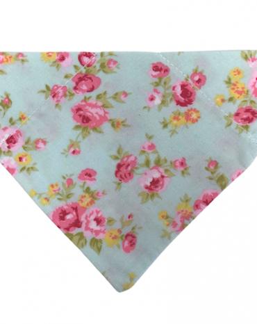 Pink flowers on green bandana copy