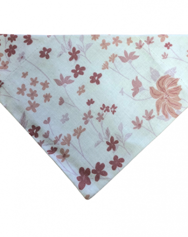 Pink flowers on white bandana copy