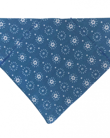 blue and white flowers bandana copy