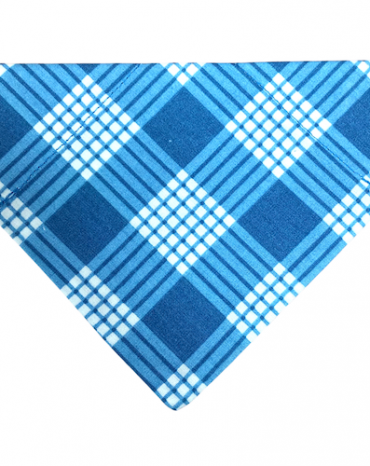 blue and white tartan bandana copy
