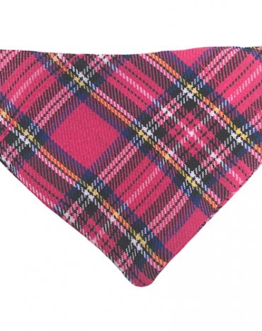 dk pink tartan bandana copy