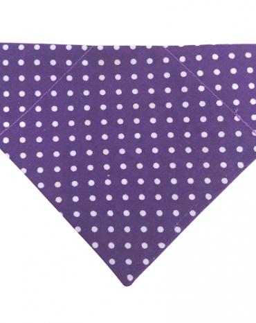 dk purple dots bandana copy