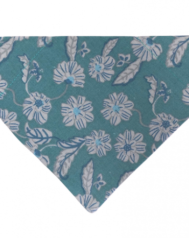 green flowers and leaves bandana copy