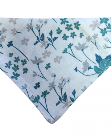green_blue flowers and leaves on white bandana copy