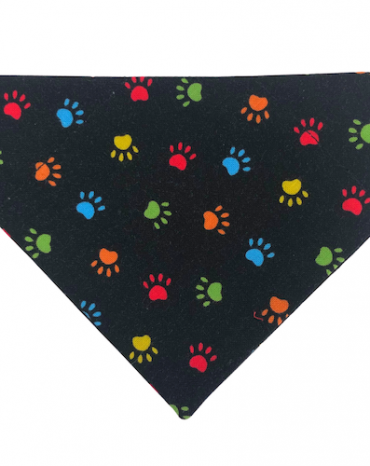 multi-coloured paws bandana copy