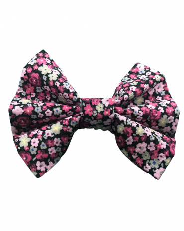pink flowers bow tie
