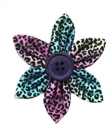Rainbow Leopard print flower