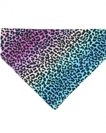 Rainbow leopard print bandana